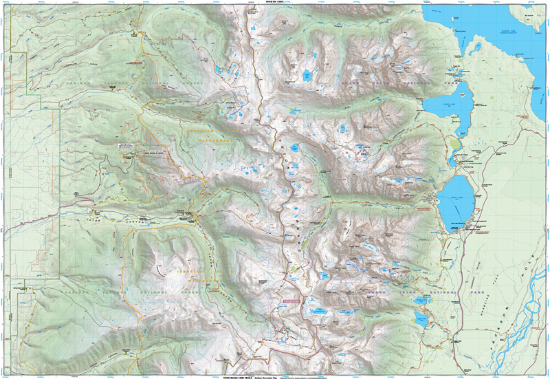 Teton Range Core Trails   Beartooth Publishing