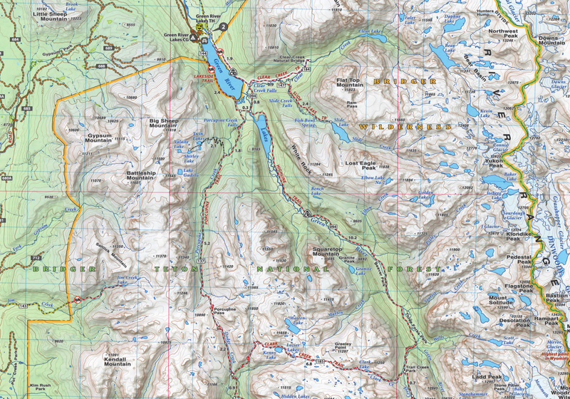 Wind River Range Wyoming Map.Wind River Range Map Compressportnederland