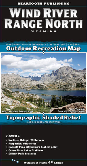 Wind River Range North Map Cover 4th Edition