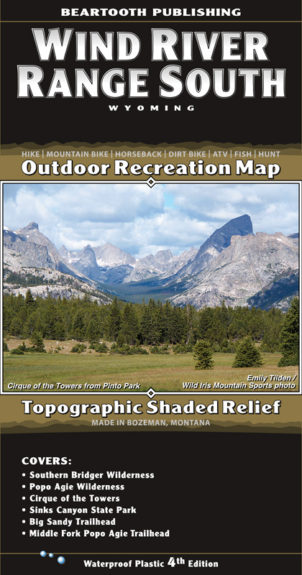 Wind River Range South Map-Cover 4th Edition